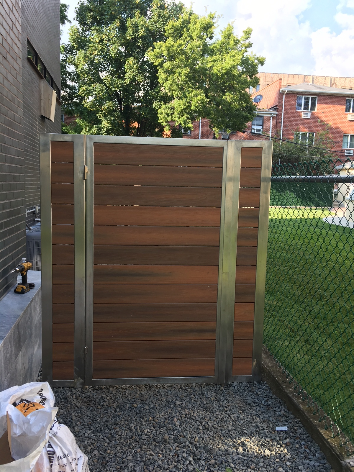 Stainless Steel Driveway Gates with Fiberon
