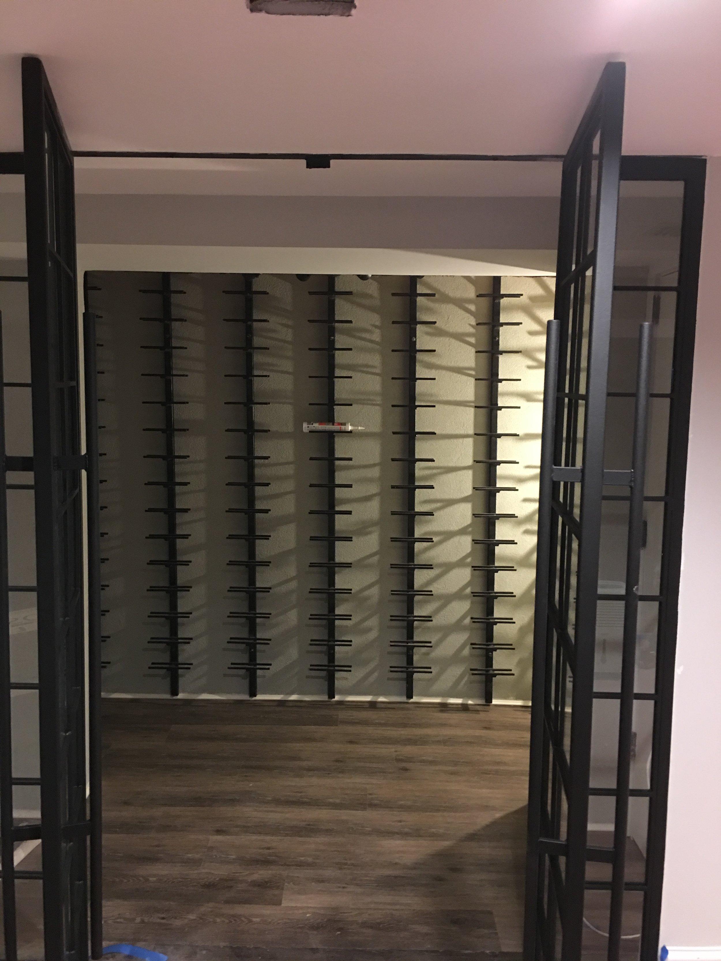 Wine Cellar Metal French Doors