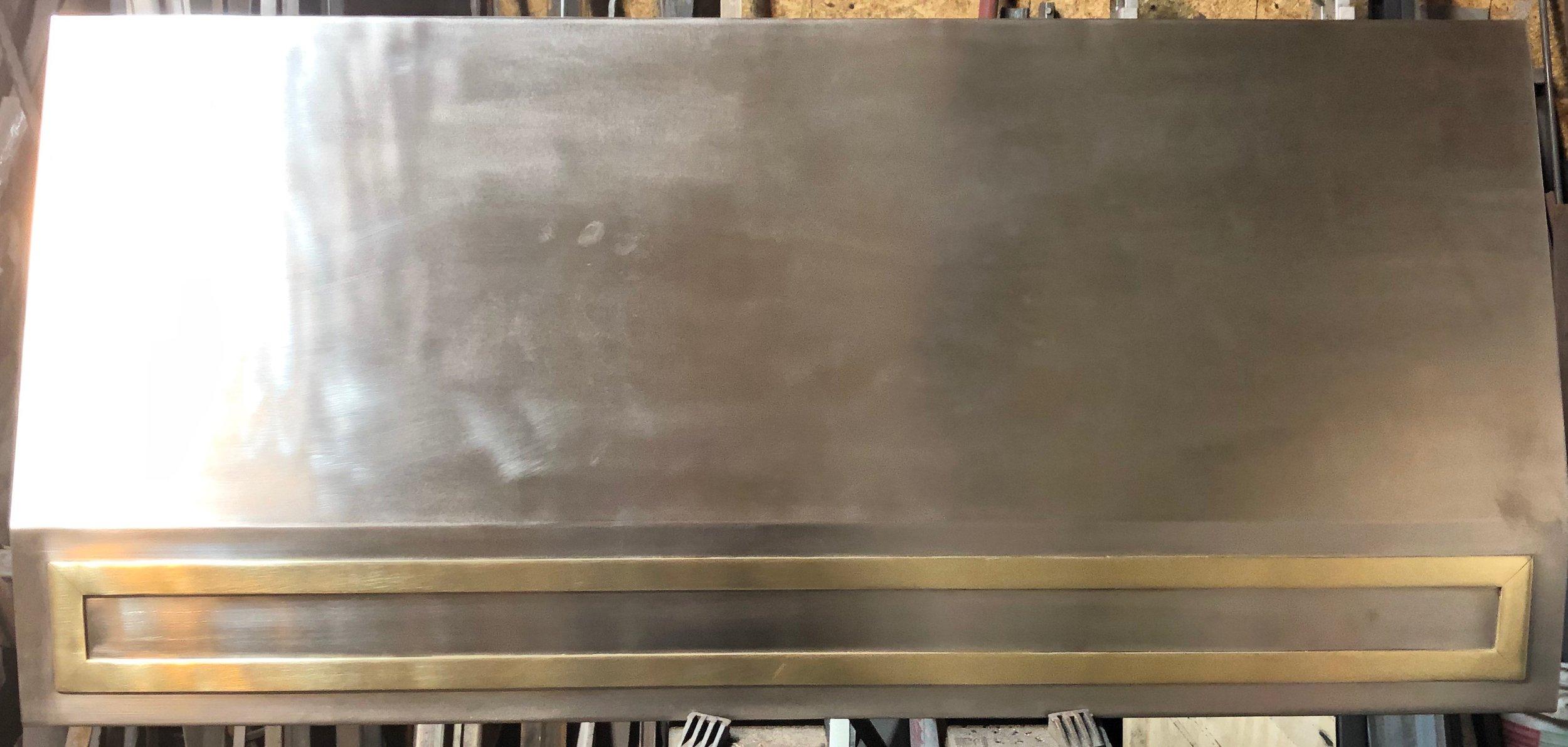 stainless steel & brass kitchen hood
