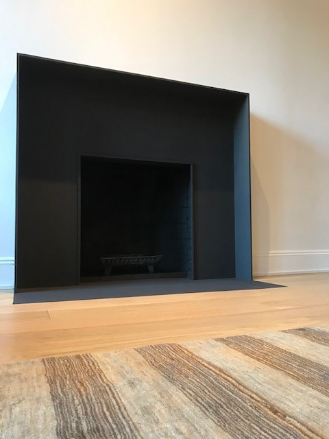 Contemporary Steel Fireplace