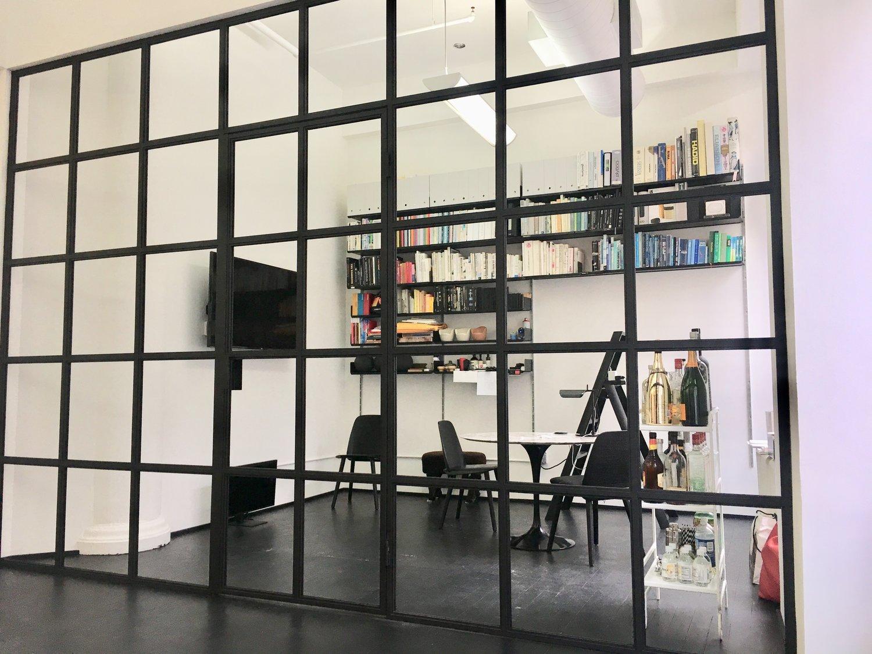 Atlason Studio Steel & Glass Swing Door Office Partitions
