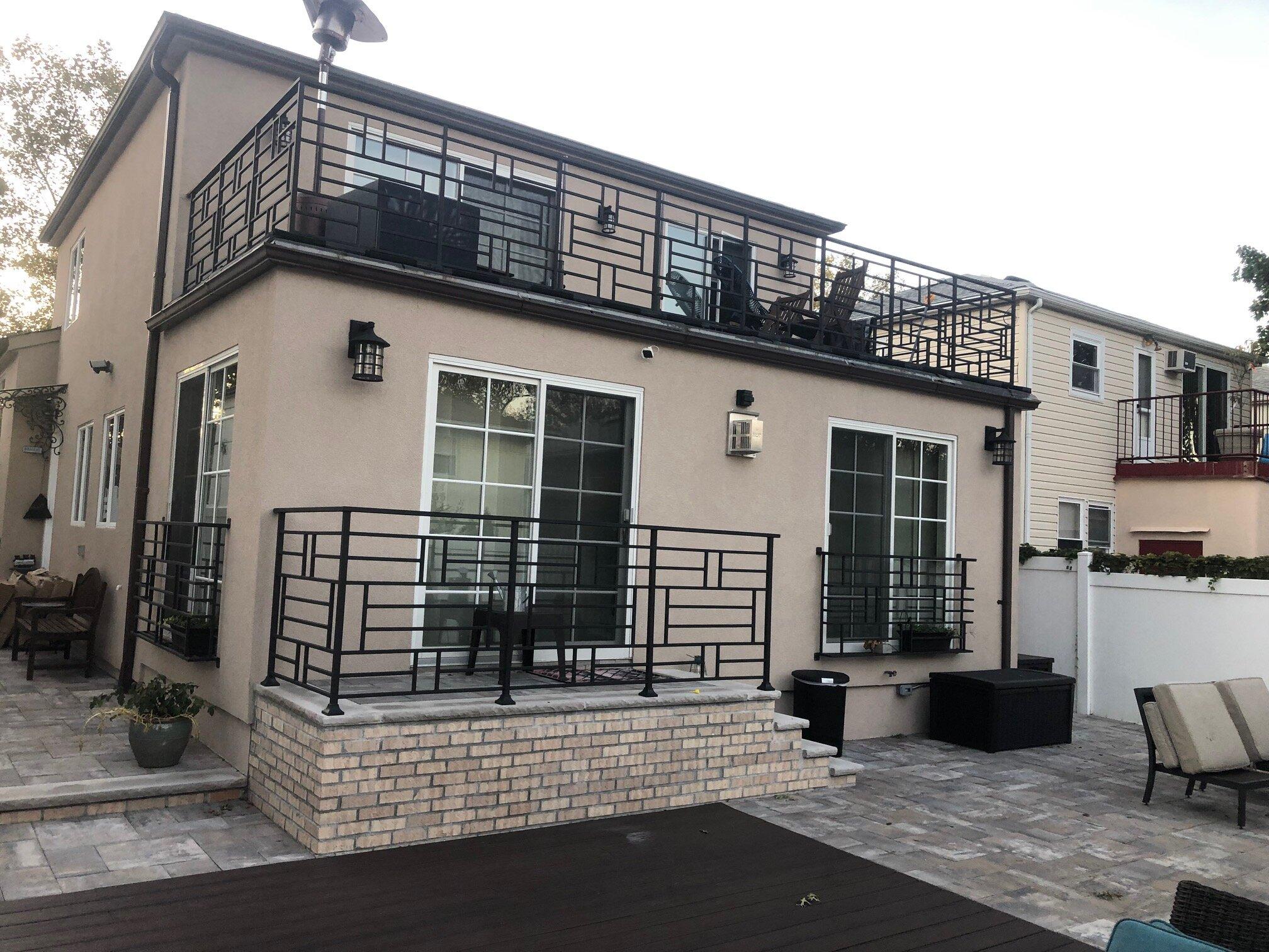 linear modern railings