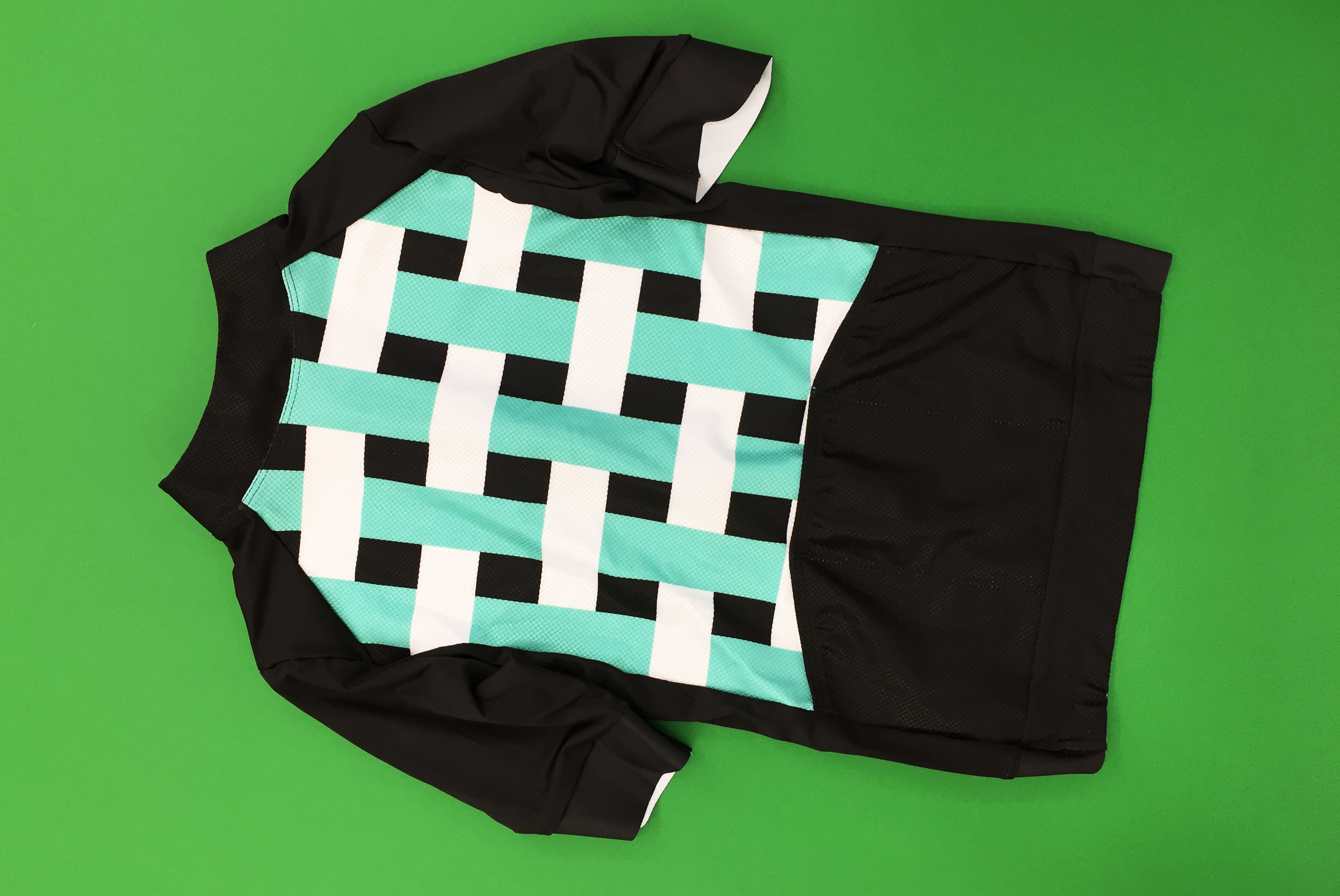 Curbar Cycling SS Grid Jersey, reverse view.