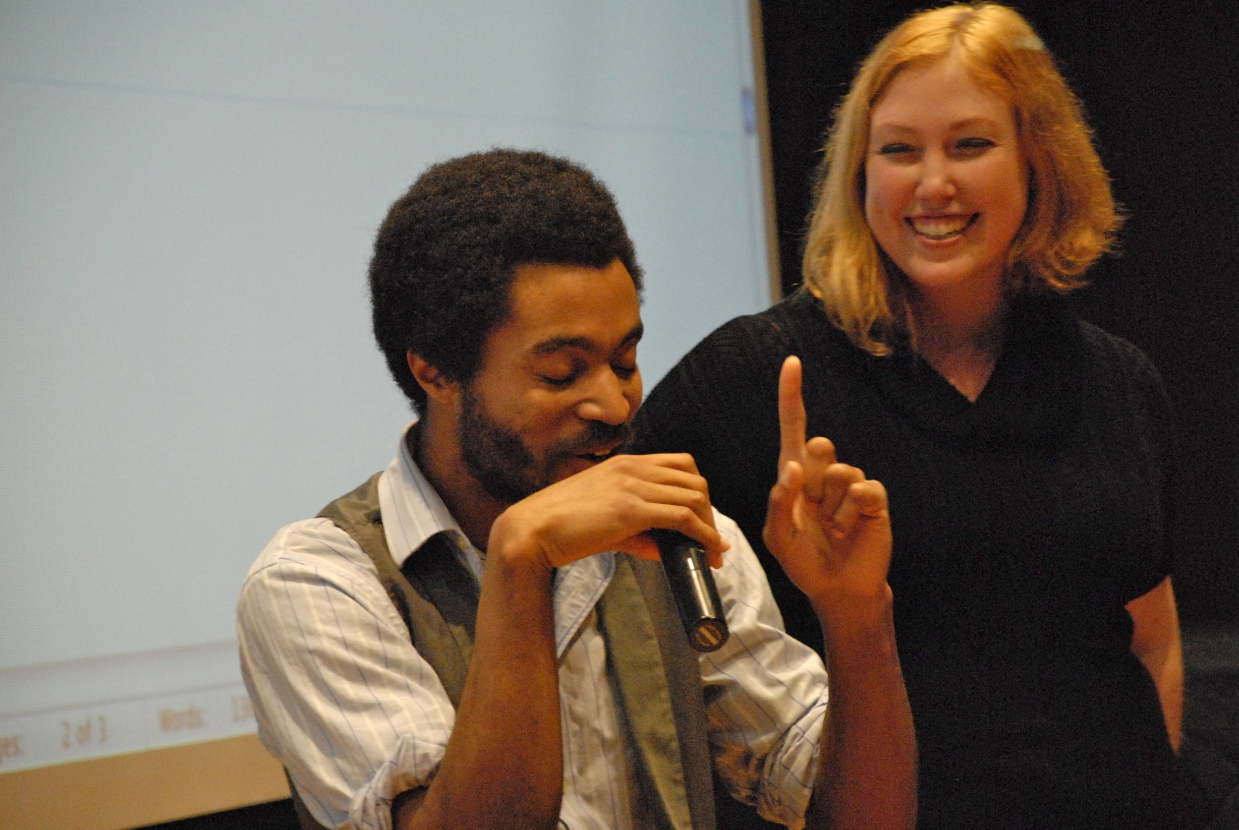 Poet/Editor Nic Hampton and Photographer/Art Director Brittany Bauman, November 9, 2011