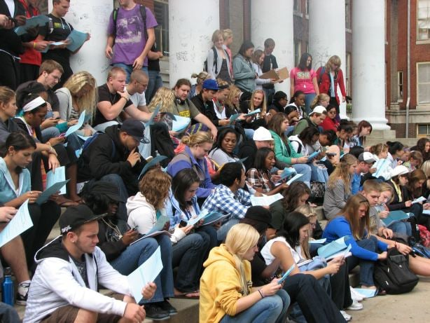 """Preparing to start the Walking Tour, """"From the Acropolis to the Pantheon,"""" September 20, 2010"""