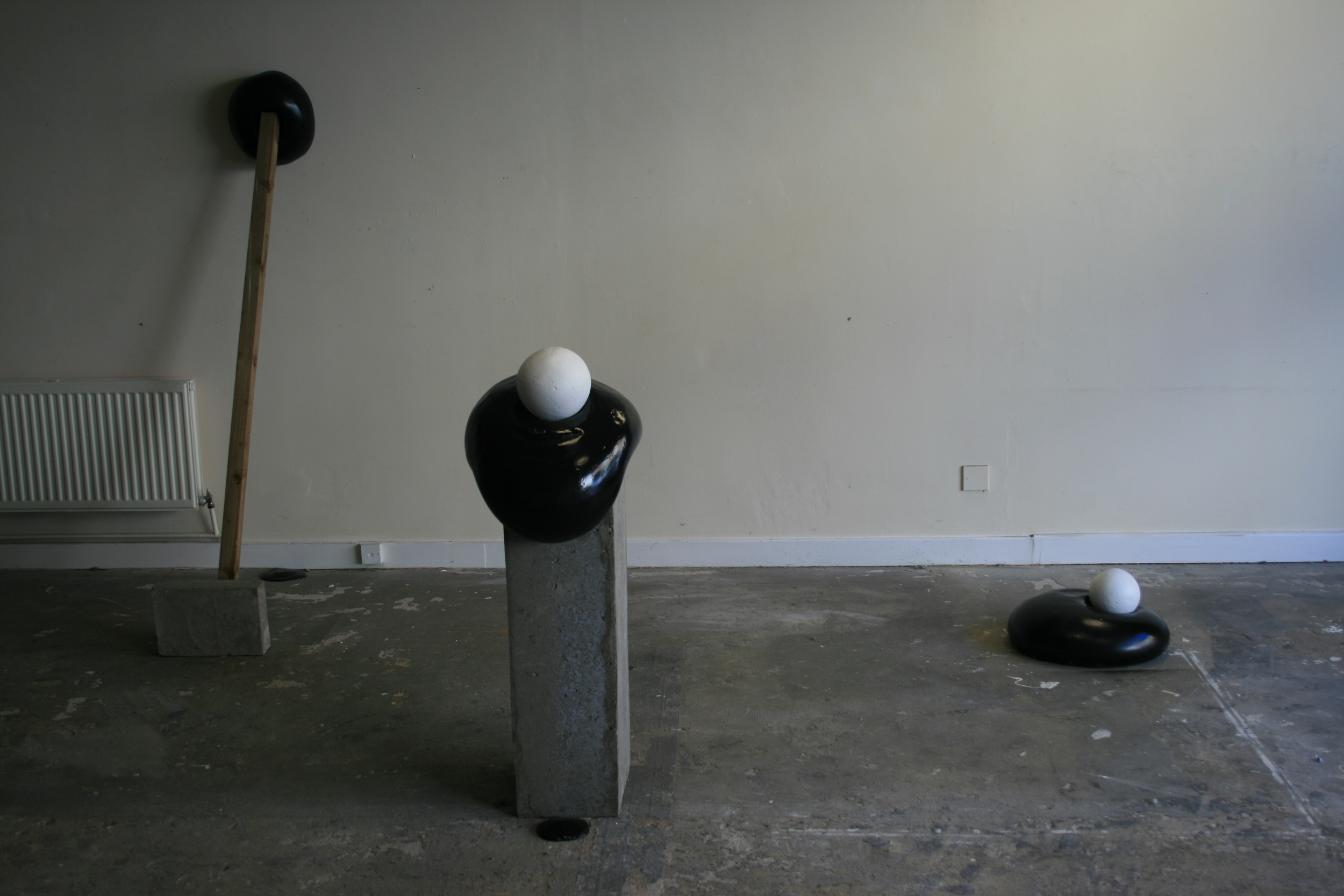 Some of my work in the empty shop on Wood Street.