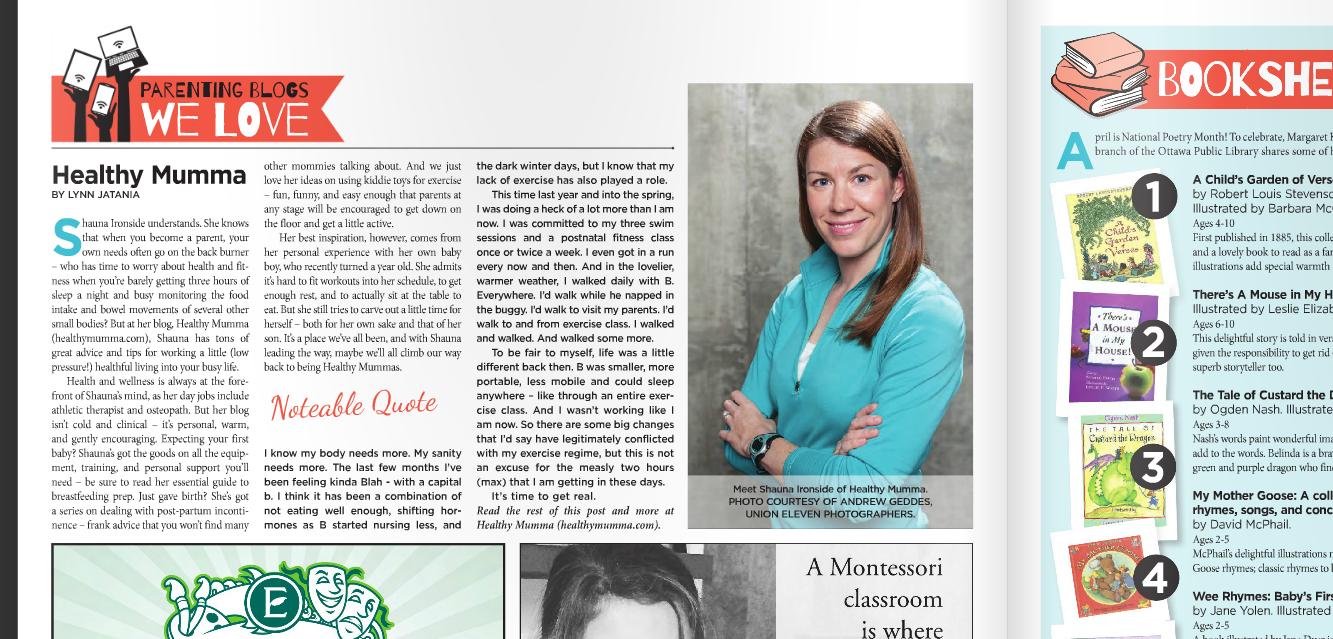 healthy-mumma-on-capital-parent-newspaper