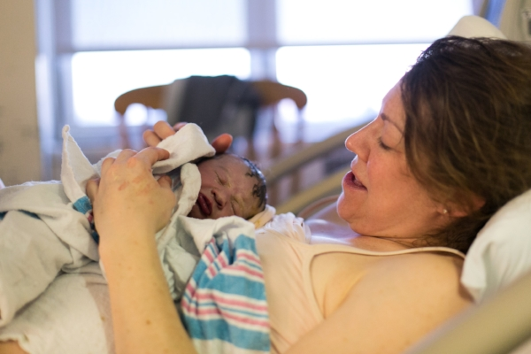 The first moment after my intervention-free birth.