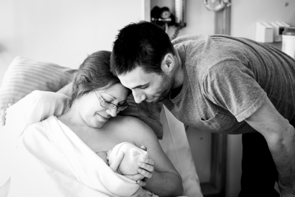 My unmedicated, hospital childbirth.