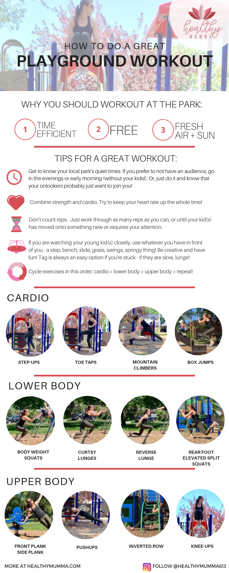 These are the best exercises to do at the park or playground