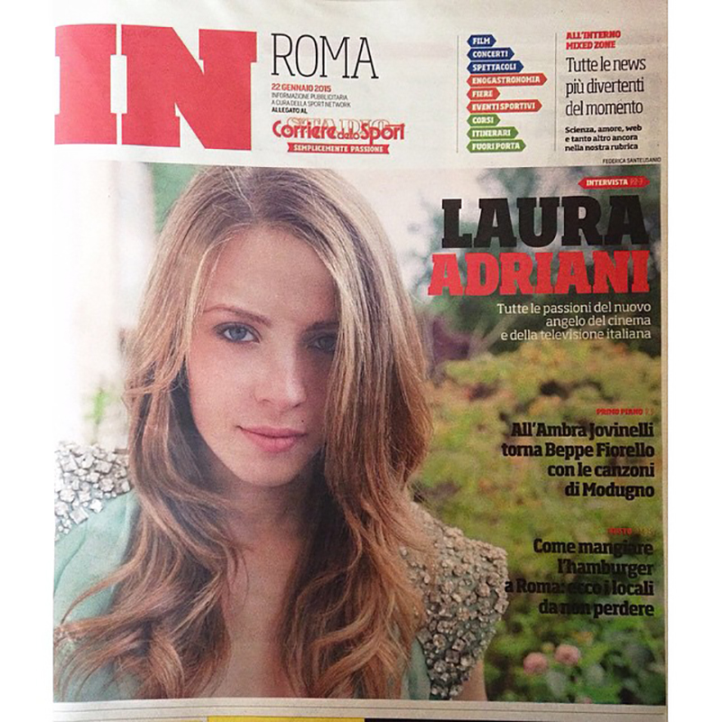 Cover with the Italian actress Laura Adriani