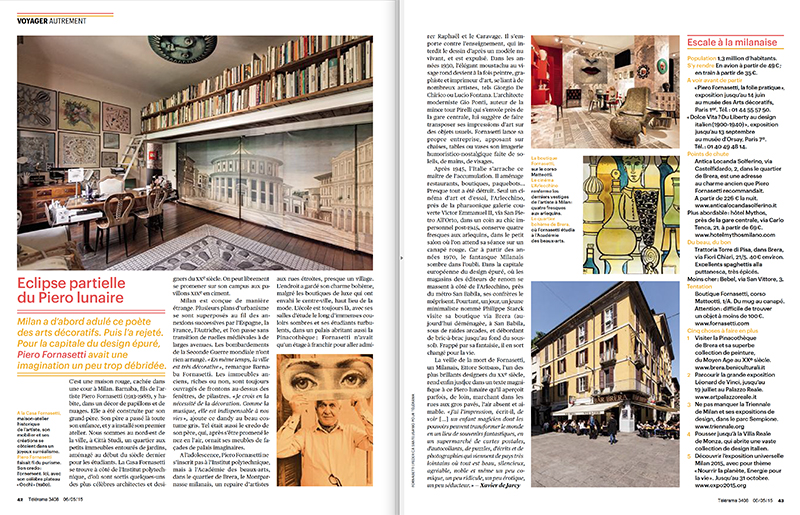 The world of Piero Fornasetti on the french magazine Télérama