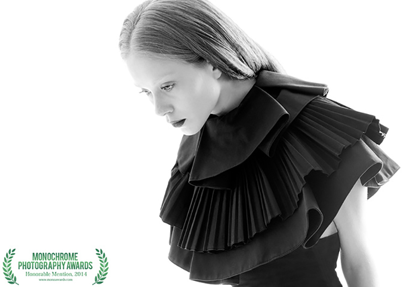 "Honorable mention in Fashion photography at ""Monochrome Photography Awards 2014"""