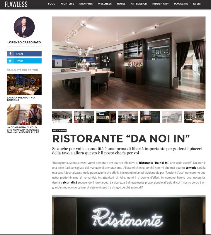 Ristorante Da noi In - Magna Pars Hotel Milano