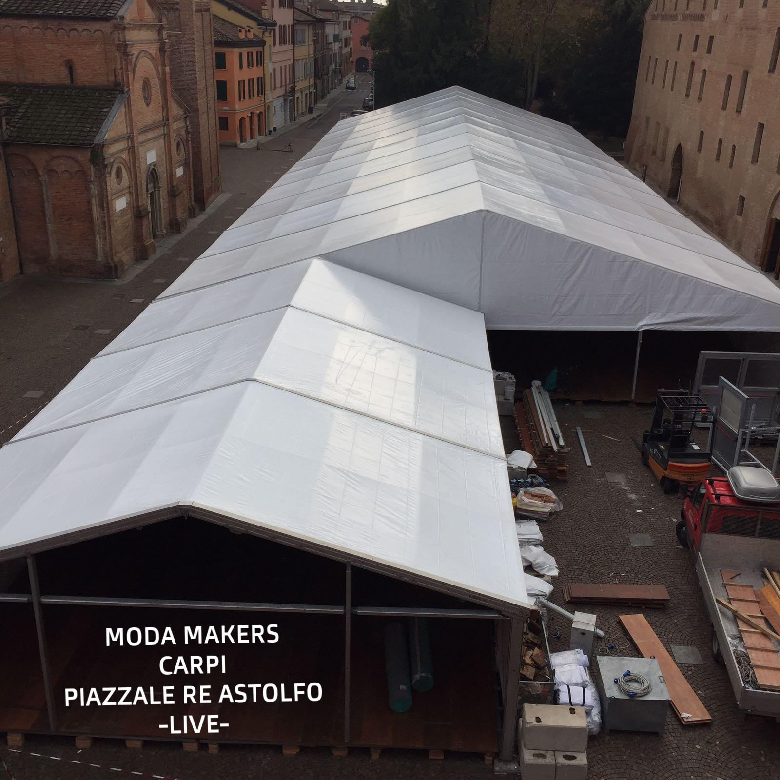 Building temporary event Moda Makers Carpi Italy