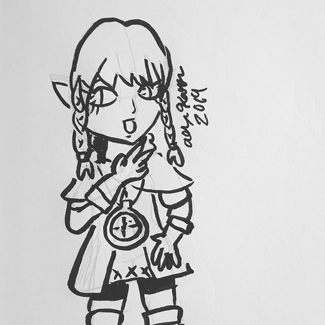 Inktober day 15: Legend Today I draw the real hero of Hyrule! 🤣 #inktober #inktober2019 #inktoberday15 #legend #legendofzelda #linkle #fanart #sketch