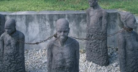 Slave market statues, Tanzania
