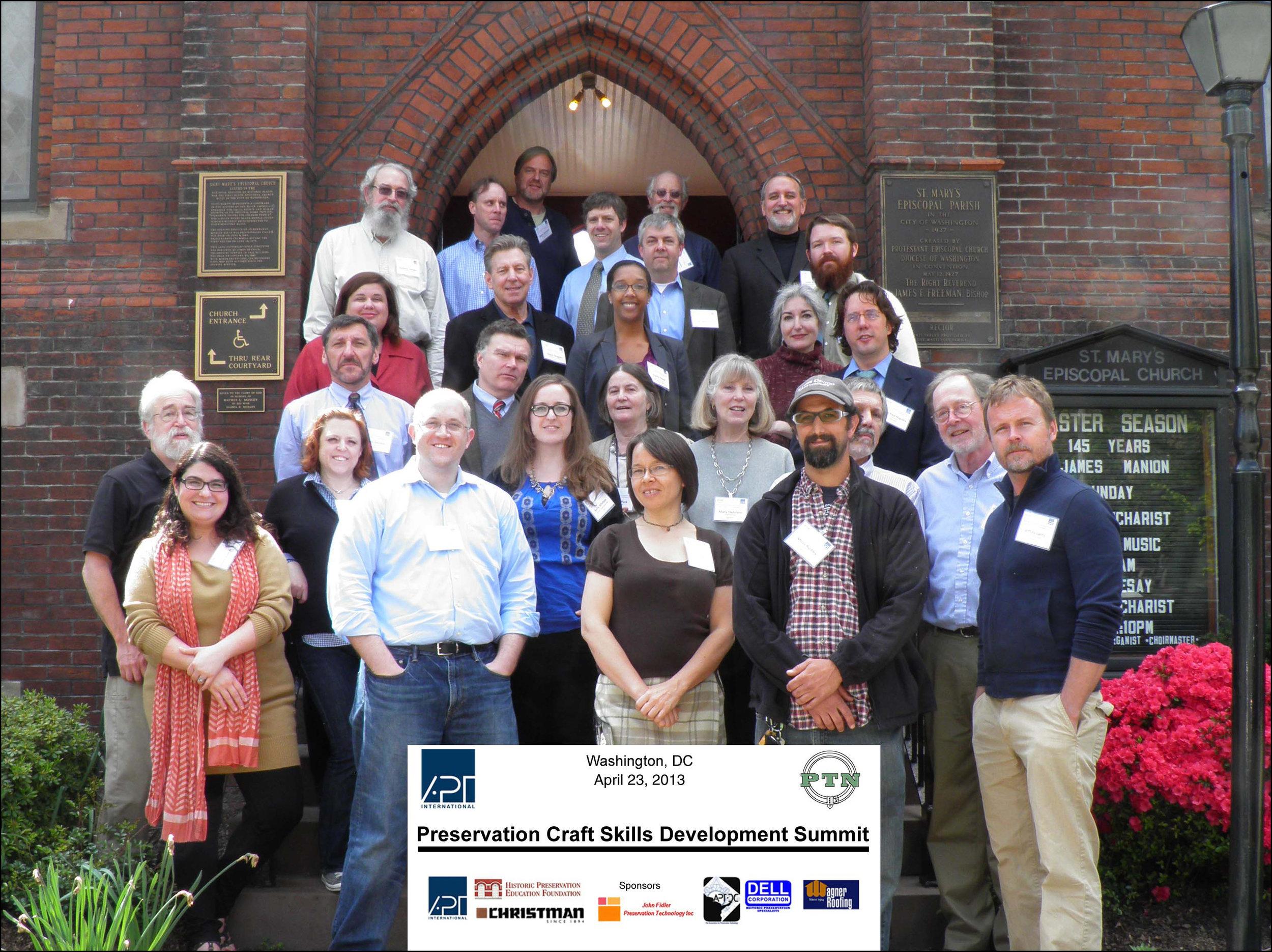 Delegates at the Preservation Craft Skills Summit.(Photo credit: © J. Bryan Blundell)