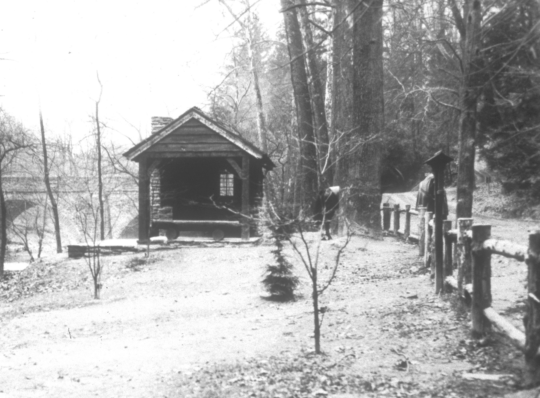 Figure 3. Allen's Lane Shelter, original WPA documentation photograph, 1938 (Fairmount Park Commission Archives, Philadelphia, Pennsylvania).