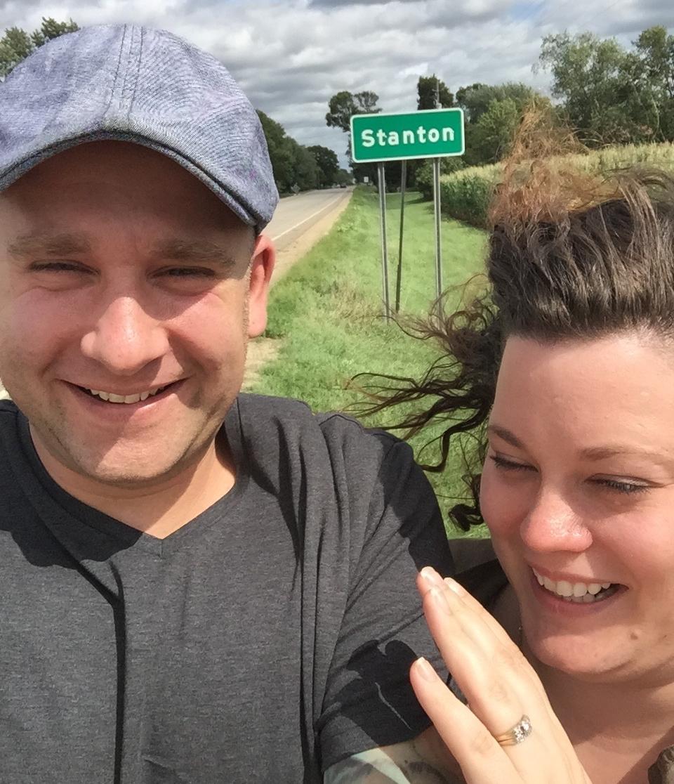 My Husband +I enjoying Stanton, MN.