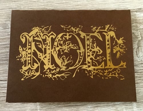 Noel   // Gold Foil on Gingerbread