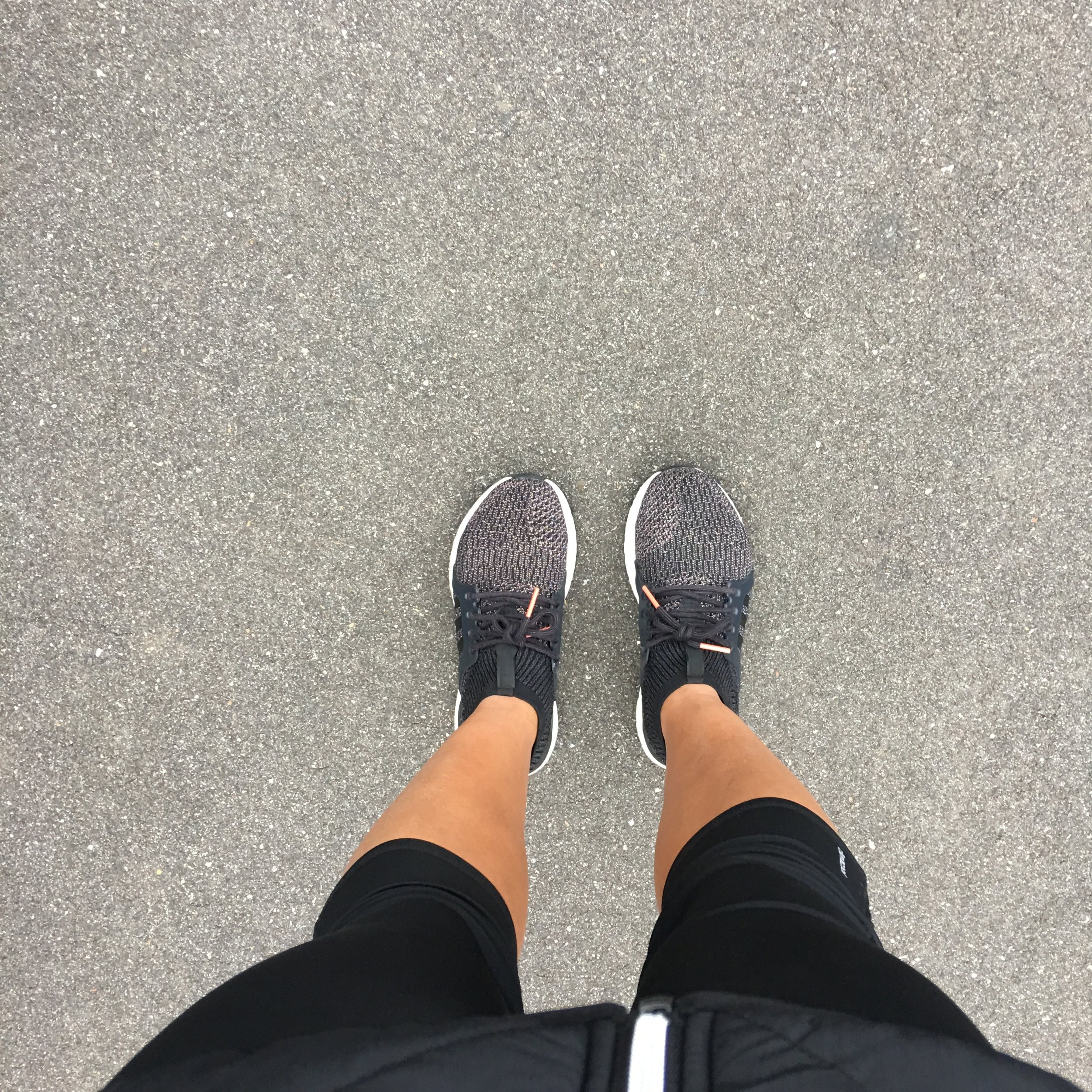 Here I am wearing the UltraBOOST X All-Terrain out on a run
