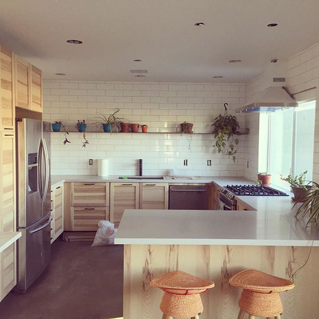 #kitchenremodel is coming together #finaltouches @umbrashift @ikea @milgardwindowsdoors