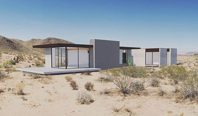 Our design for this new #desertretreat looks over the #nationalmonument in #flamingoheights a short walk from #lacopine