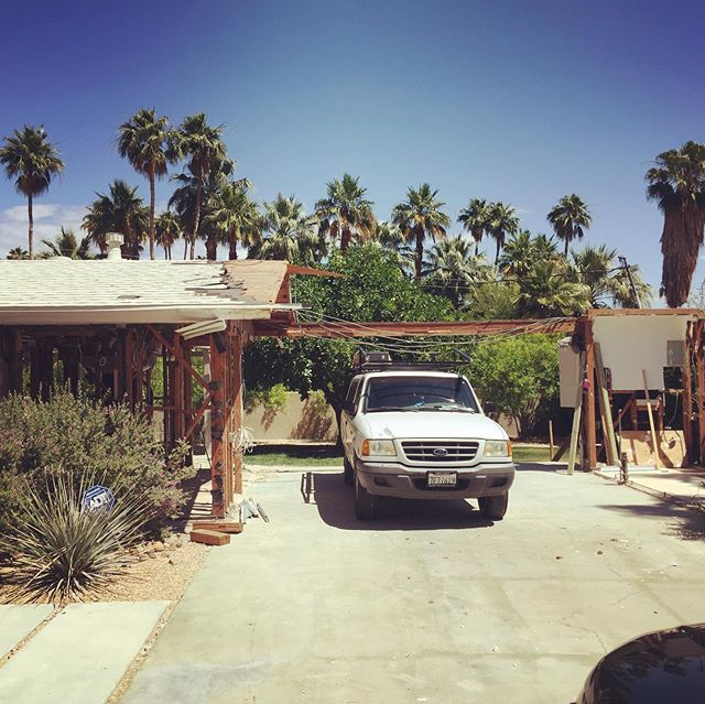 #byebye carport; reconstruction has begun on our Mesa project #mcmrenovation #psmodern #lillianagardens