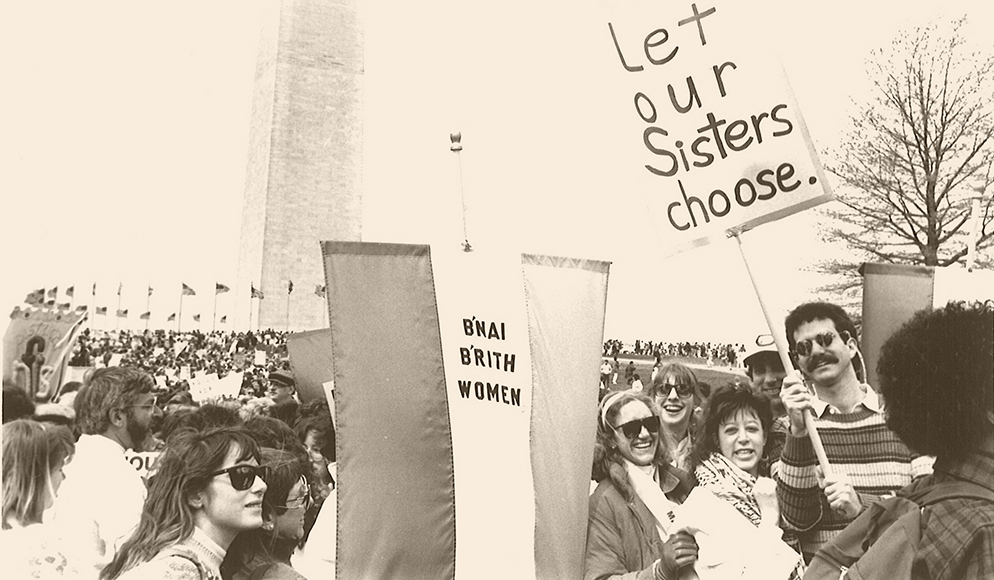 Members of B'nai B'rith Women (which later became JWI) marching for abortion rights in Washington, DC in the 1980s.
