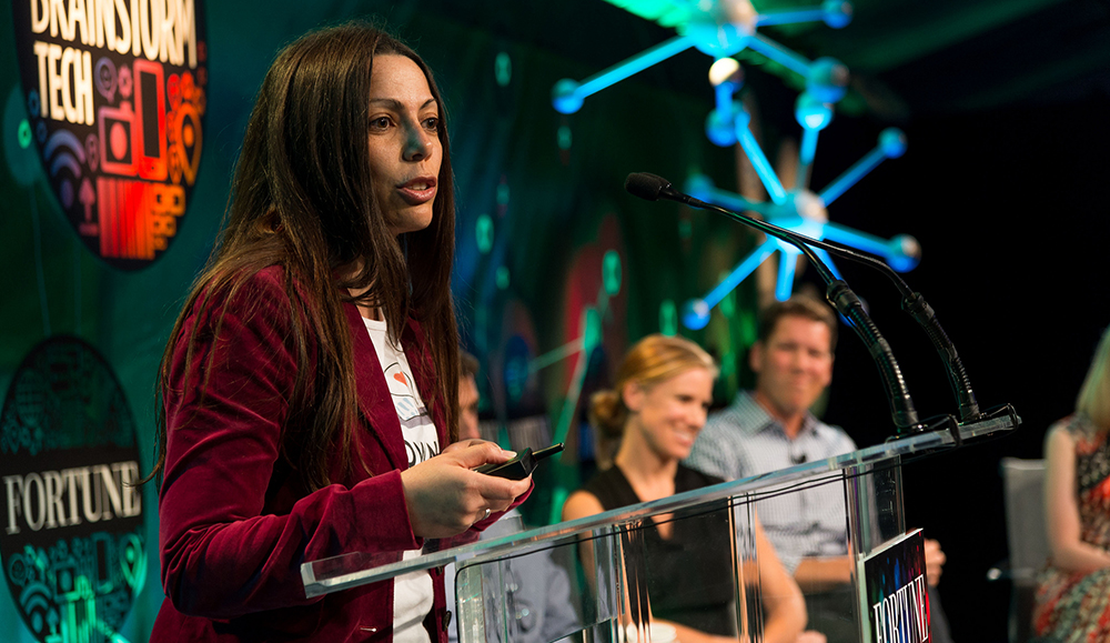 Adi Bittan presents her business plans to a panel of judges at Fortune Brainstorm TECH 2013.  Photo by Fortune Live Media via Flickr.