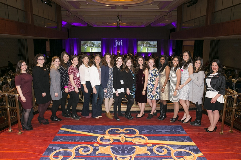 Photo by Michael Bennett Kress  Members of the Young Women's Leadership Network pose for a photo at the 2016 Women to Watch gala.