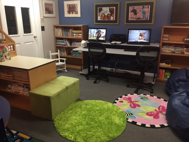 In the Manya Kanof Gussack Library at Cape Cod's Independence House, children can do their homework on computers, read a book, or just find peace in this comfortable, safe space.