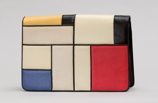 Leiber considers this Mondrian bag to be one of her most inspired pieces. She designed 3,500 unique handbags throughout her career, and now displays a little more than 1,000 of the originals at the Leiber Collection museum in East Hampton, New York.