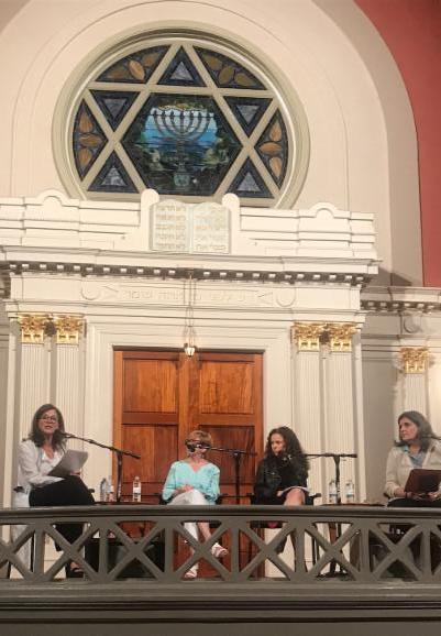 pictured from l-r) Lori Weinstein, Chai Feldblum, Sarah Wildman, Rabbi Elka Abrahamson