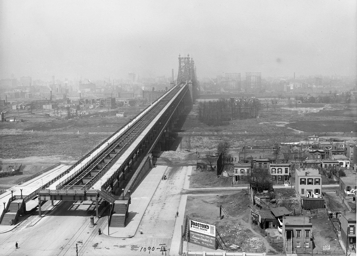 The Queensboro Bridge looking to Manhattan, Eugene de Salignac/Courtesy NYC Municipal Archives, May 1, 1912