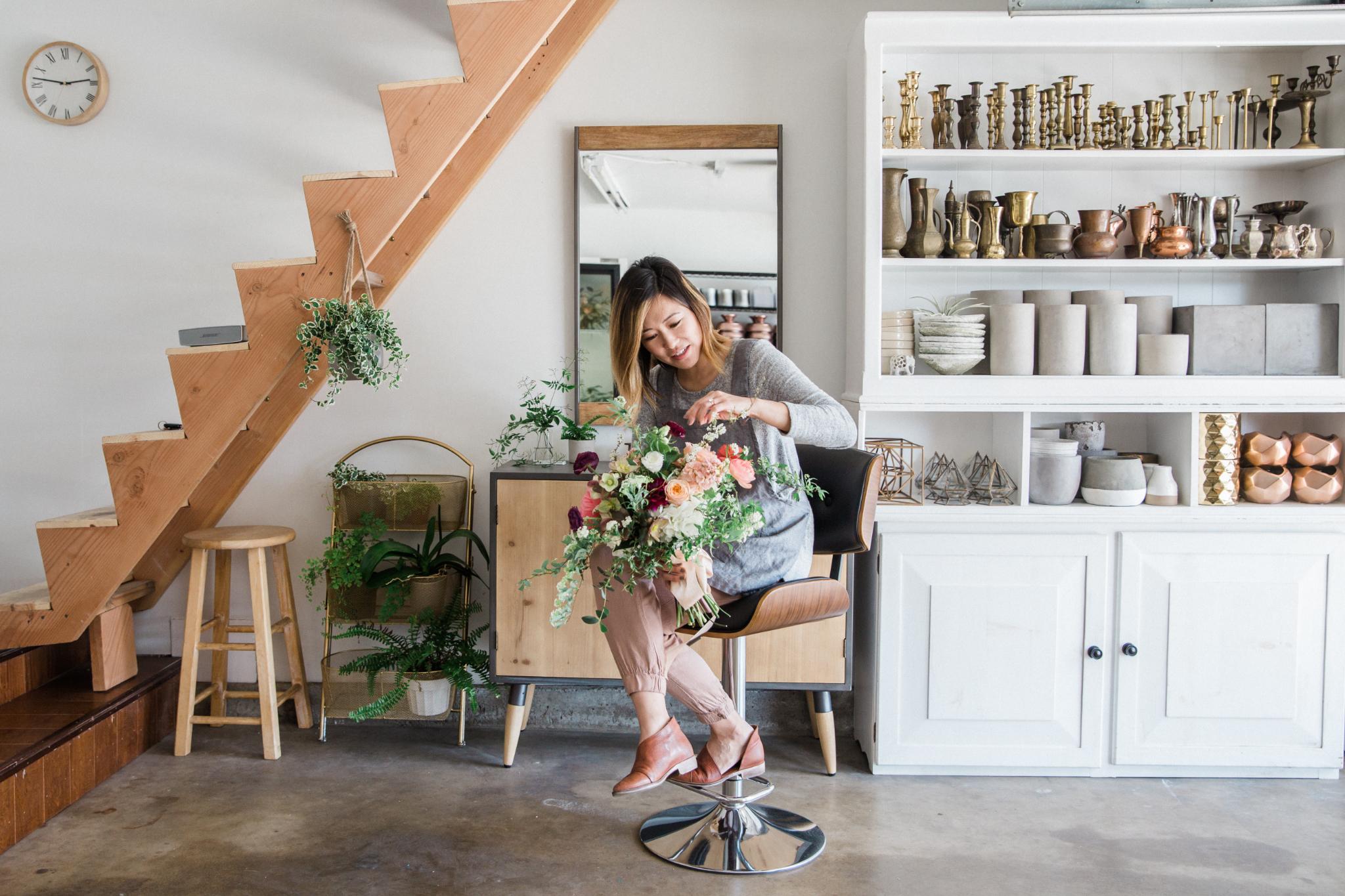 Hannah Koo Milieu Florals Flower Designer Studio Visit
