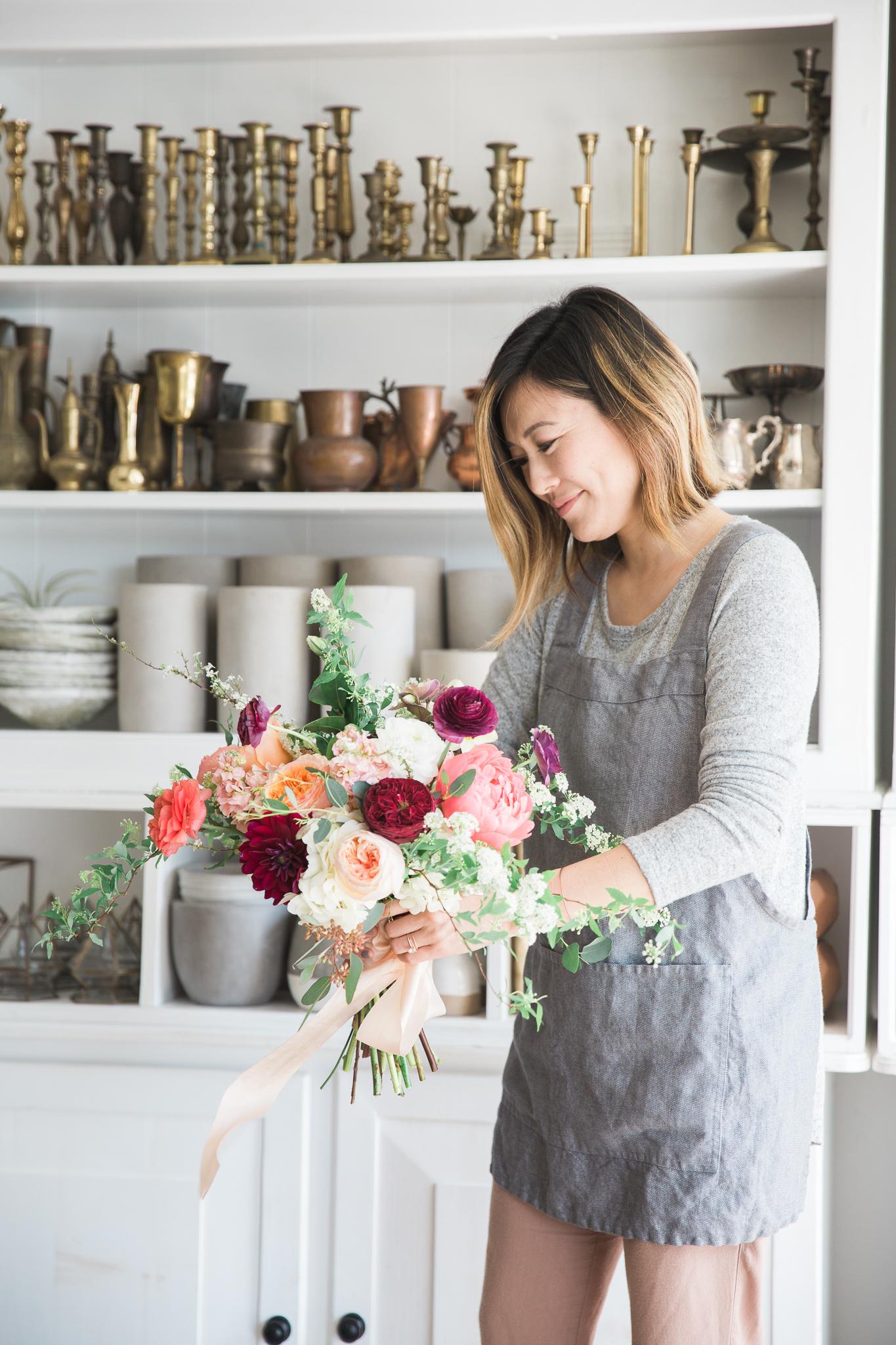 Florist Milieu Florals Bouquet Vases OC Portrait Photographer