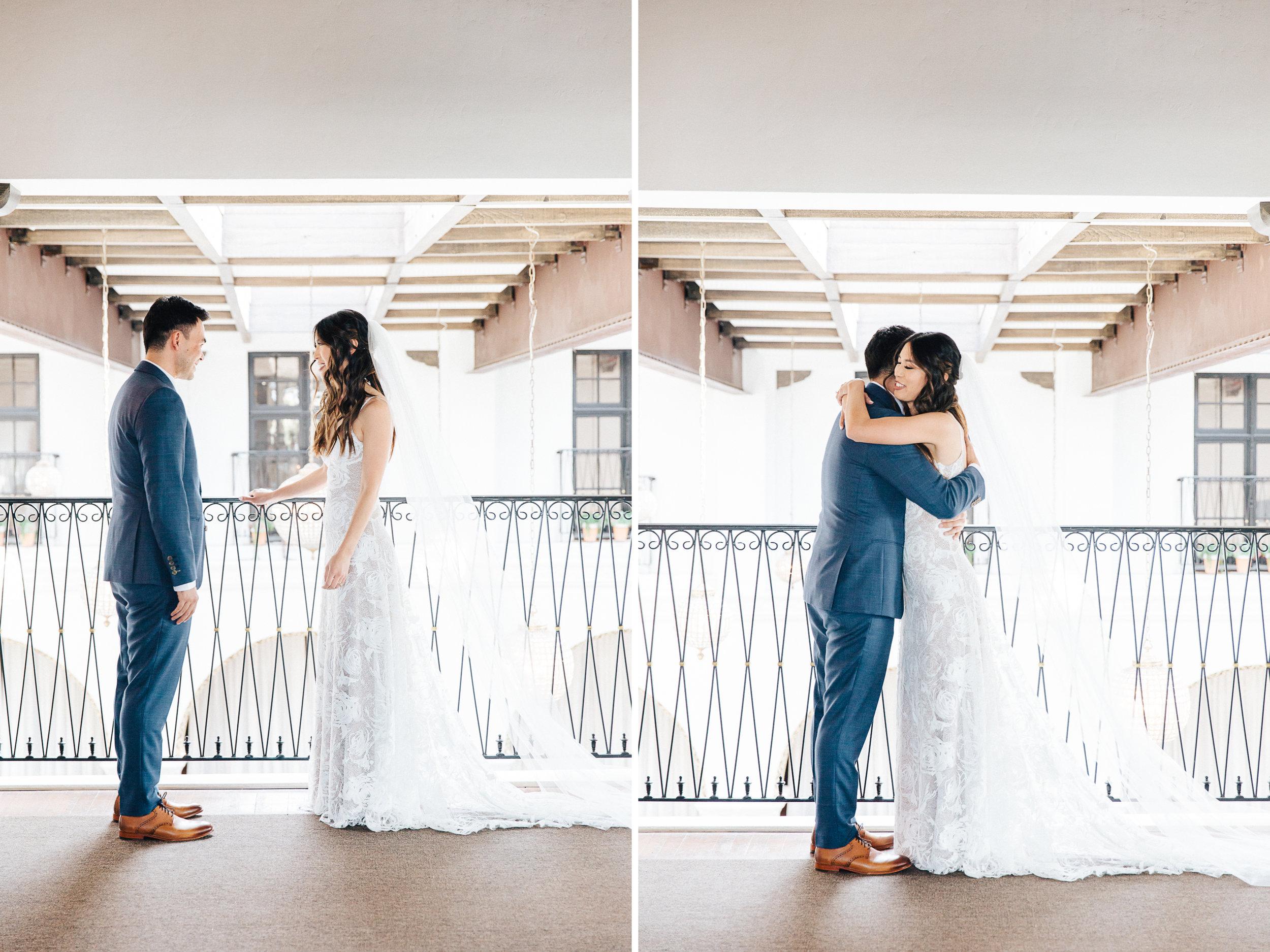 First Look Wedding Photography Long Beach Ebell