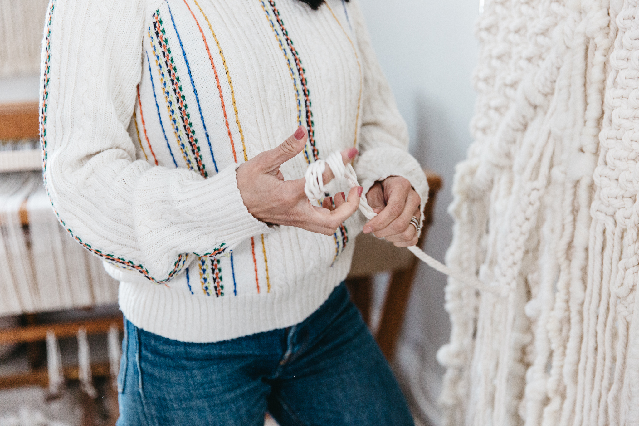Rope Modern Macrame Artist Elsie Goodwin Reform Fibers Hands On Collective by Joy Theory Co Orange County Photographer
