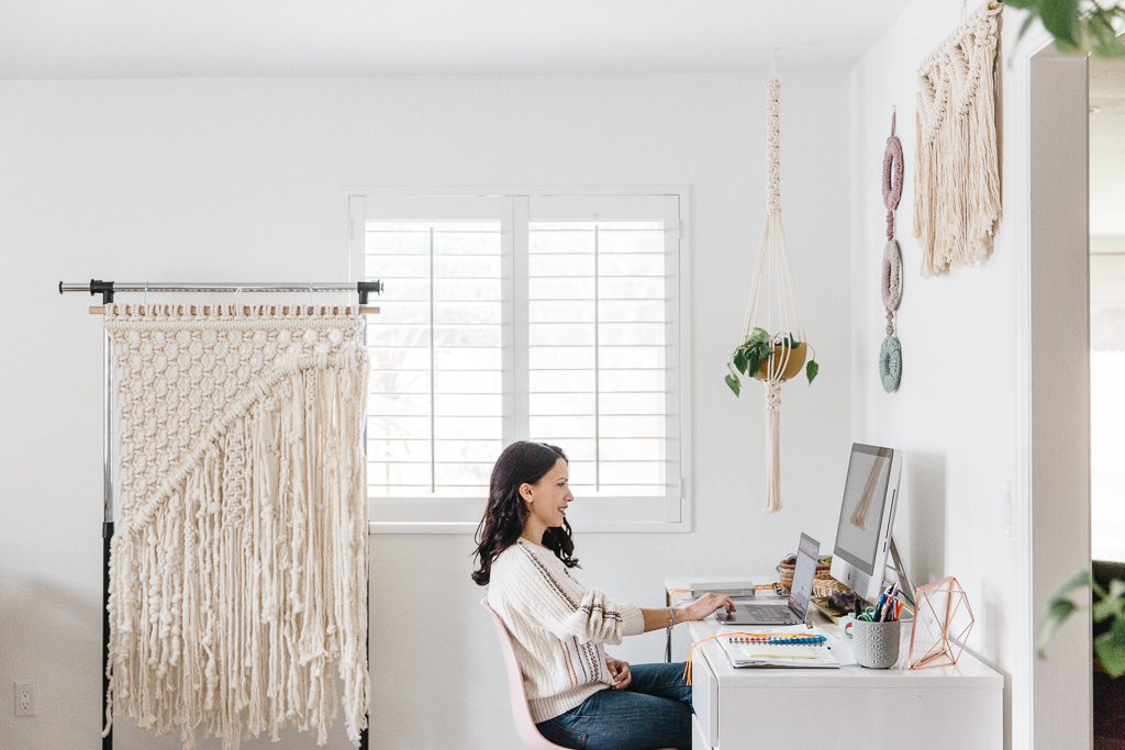 macramé artist studio visit Joy Theory Co Orange County Photographer