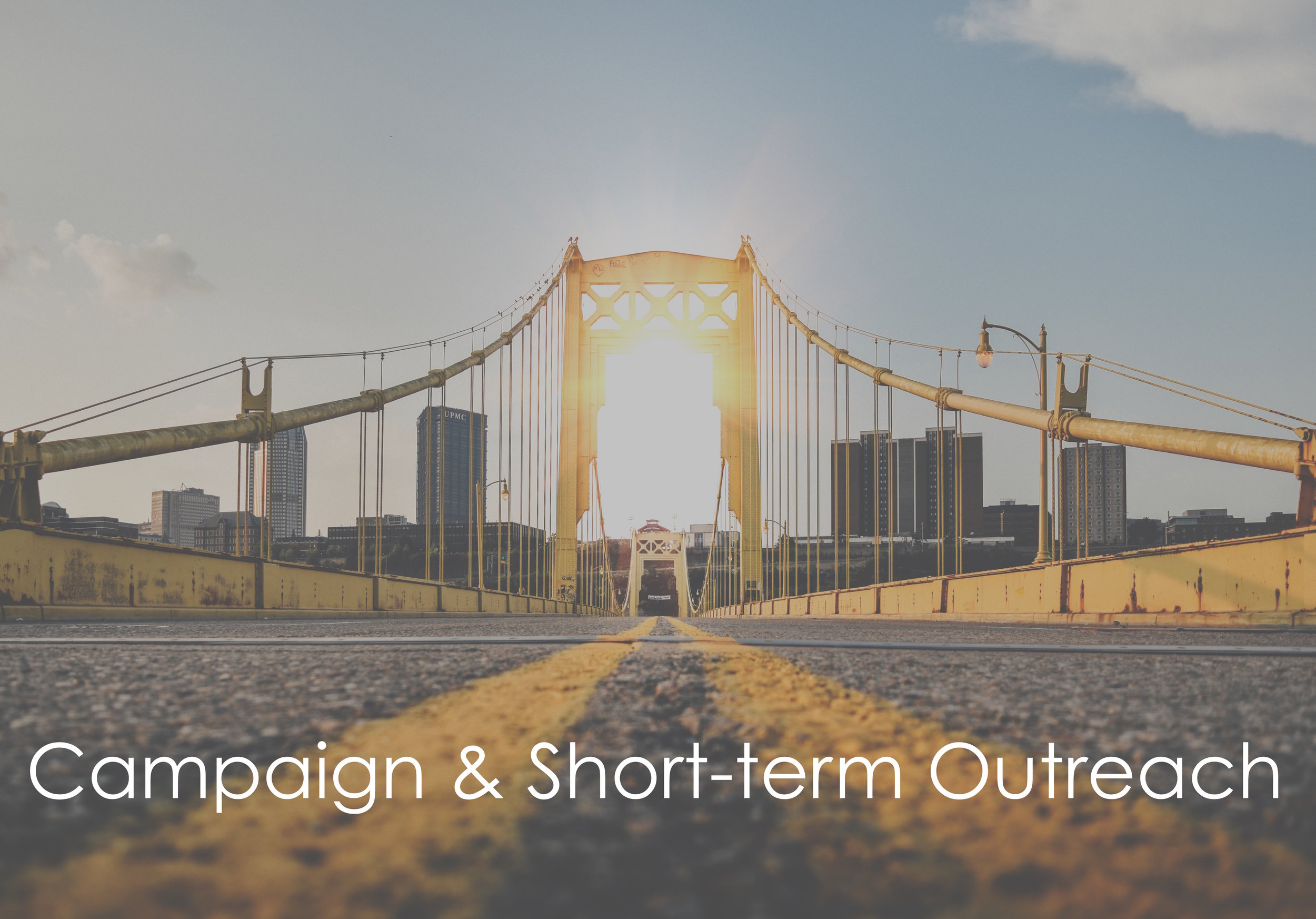 Campaign & SHort-term outreach program   – Typically 3-6 month targeted focus for specific purpose  – Ideal for raising awareness and building new relationships as quickly and efficiently as possible  – focussed and customized approach to your target audience  – – DISTRIBUTION OF ALL MATERIALS TO OUR DATABASE OF INVESTMENT PROFESSIONALS