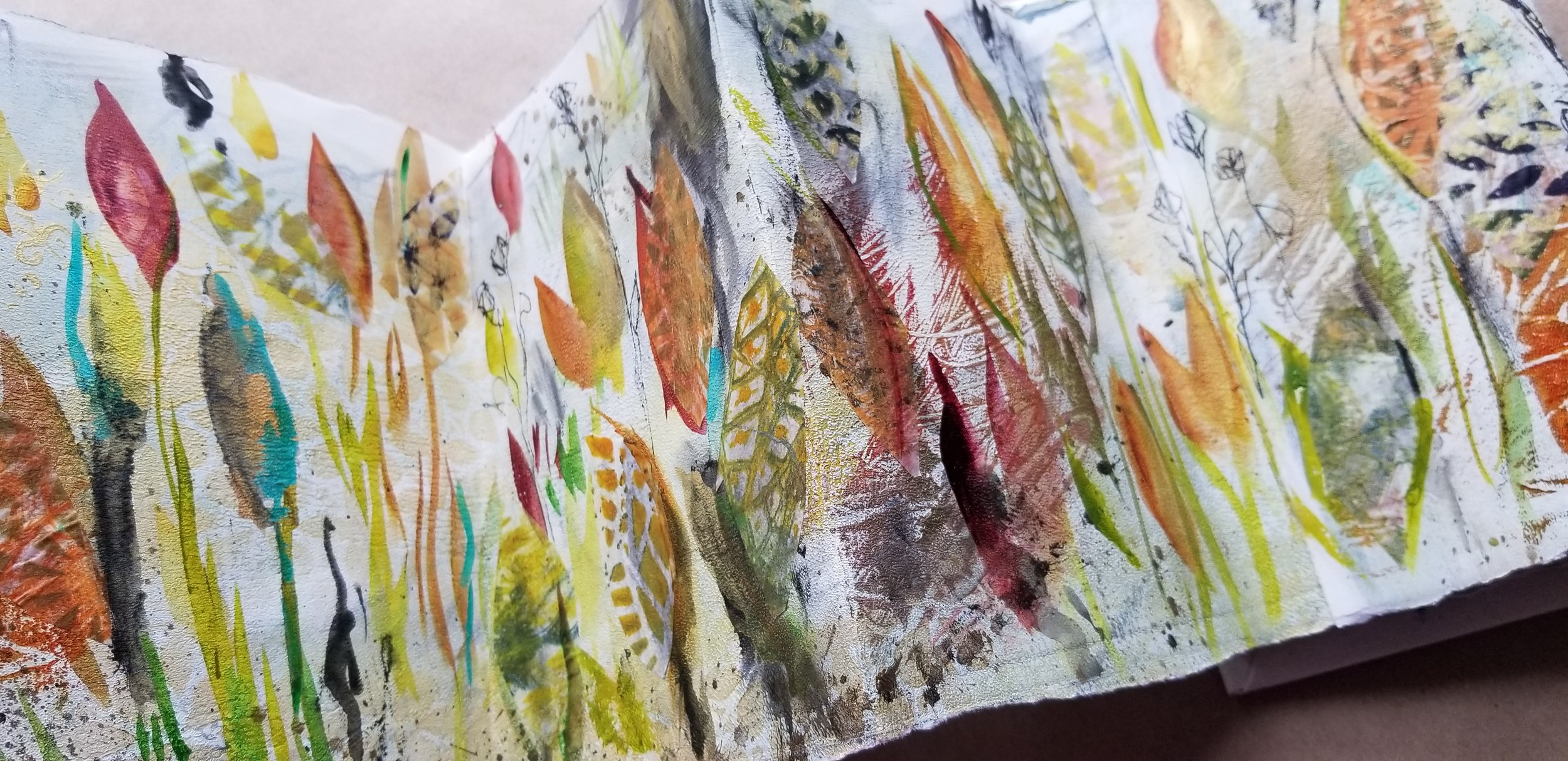 Ubuntu One World Kellee Wynne Studios mixed media concertina art journal 6.jpg
