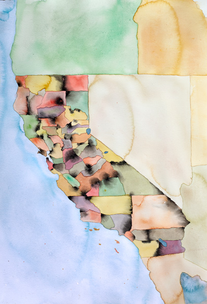 Map of California by County