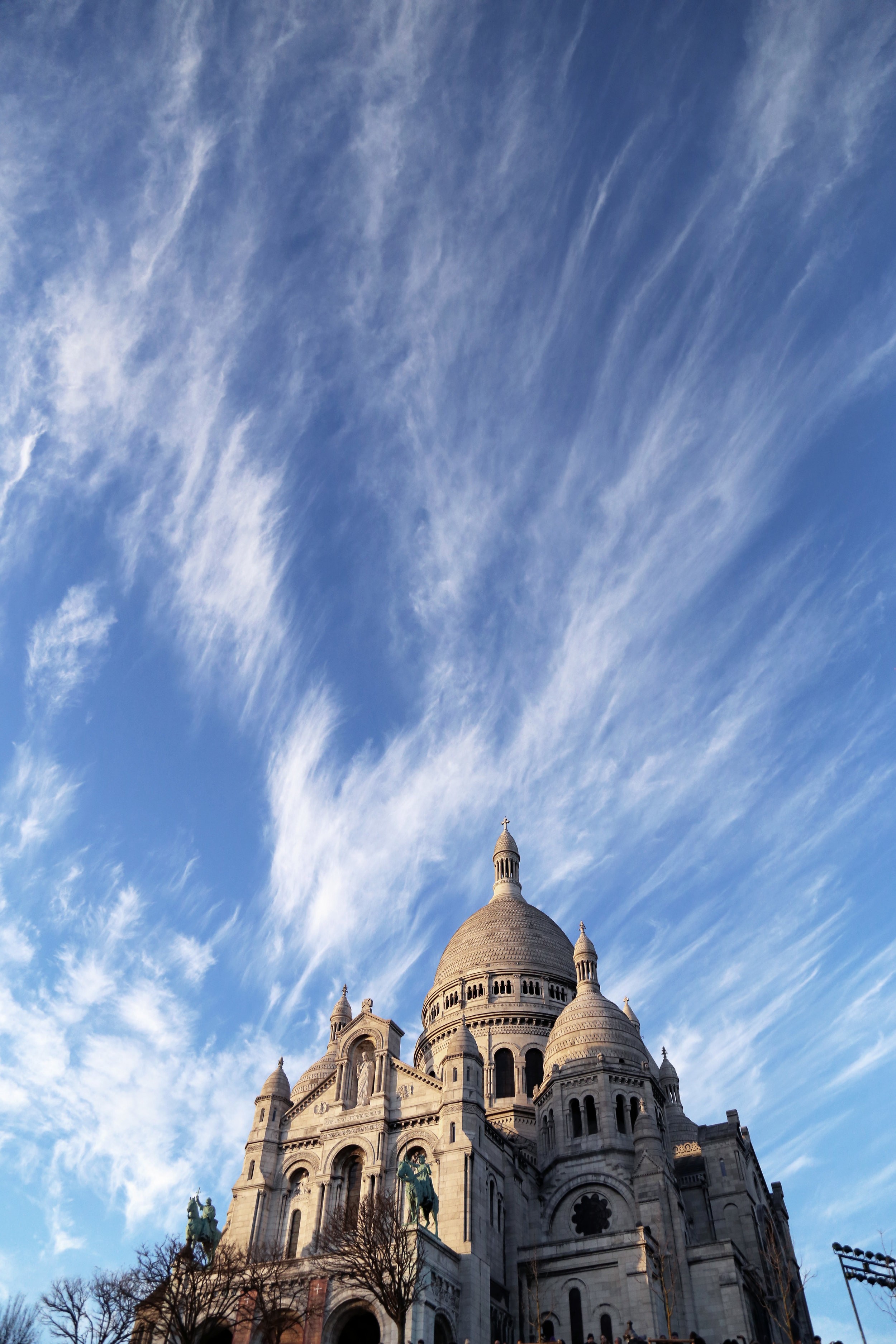 Basilica of the Sacre Coeur on top of Montmarte.