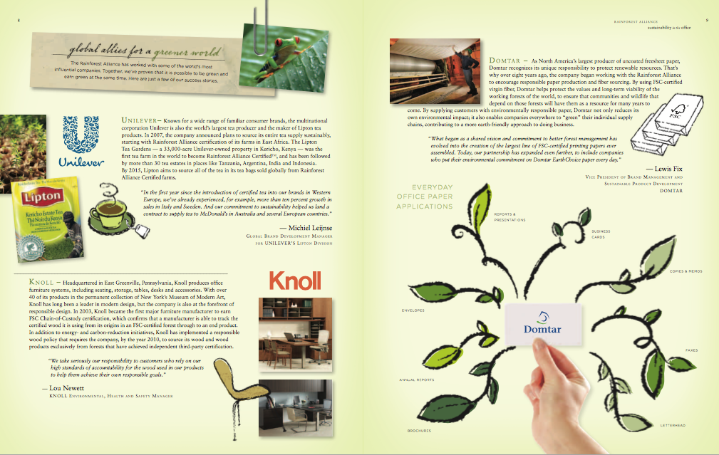 DOMTAR BROCHURE FEATURING FSC PRODUCTS