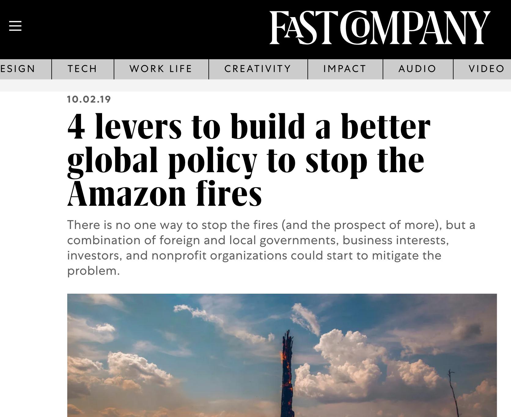 FAST COMPANY ARTICLE 10.02.19