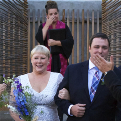 - During our engagement, we felt pressure to seek out a religious-affiliated officiant. After contacting a number of clergy people and freelance ministers, we were still left without someone we felt was the right fit. All of the sudden, we both thought, what if we asked a friend?Susanna, BrideColorado