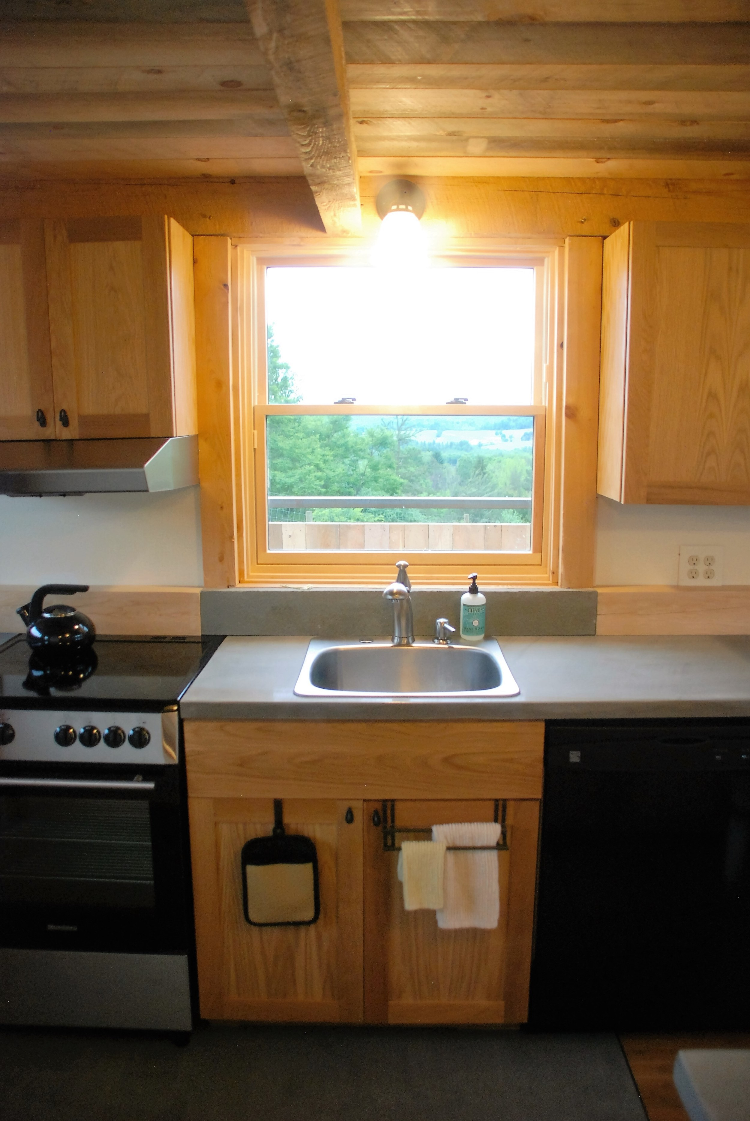 Tiny Timber house kitchen