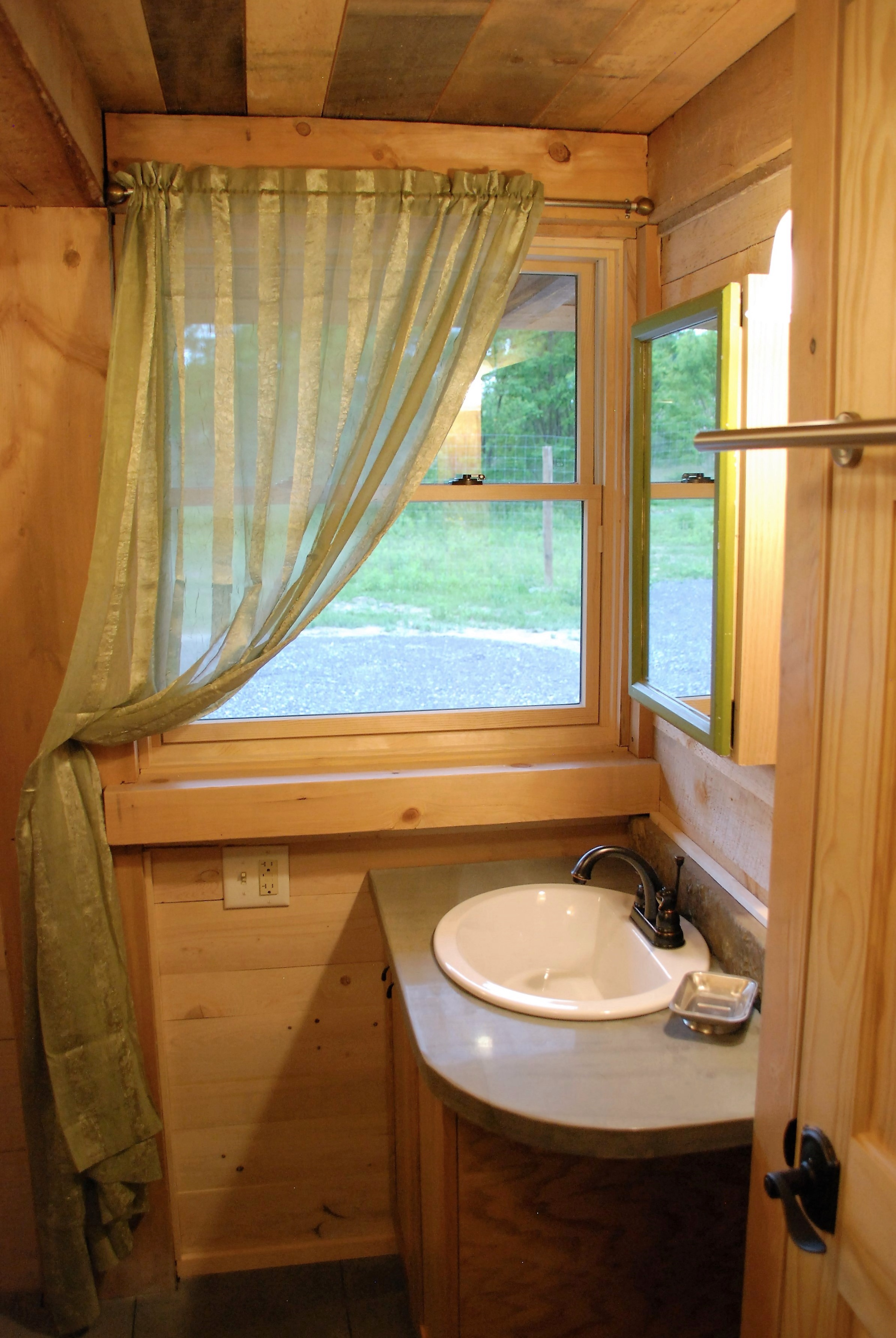 Tiny Timber house bathroom